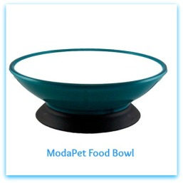 ModaPet-Teal-Appeal-Pedestal-Cat-Bowl