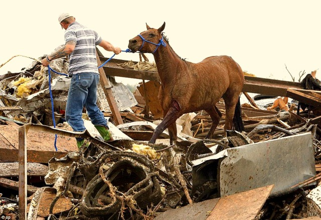 Helping Horse Oklahoma tornado