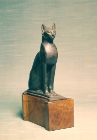 Dating from 664 B.C. - 395 A.D, Egyptians mummified their house cats. The ancient Egyptian reverence for cats is well-known—and well-documented in the archaeological record: scientists found a cat cemetery in Beni-Hassan brimming with 300,000 cat mummies. (National Museum of Natural History)