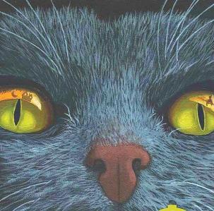 grey cat halloween