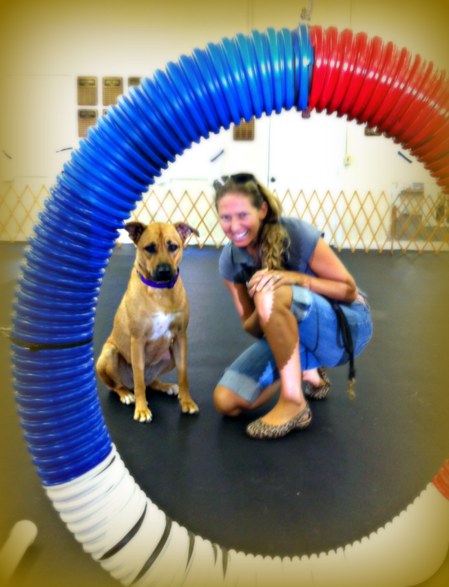 Hocus Pocus and me at Agility Training here in NC