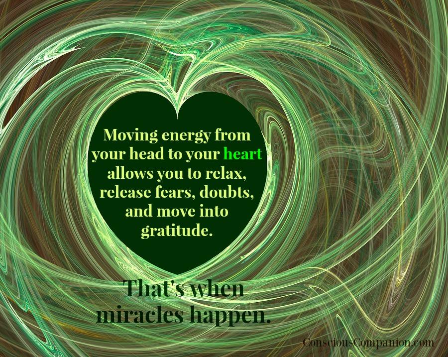 green energy surrounding a heart