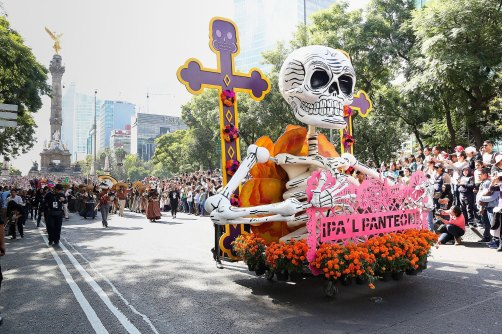 Day Of The Dead Parade Mexico City 2016