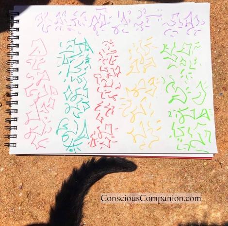 Light Language _black cats_light language art_conscious Companion